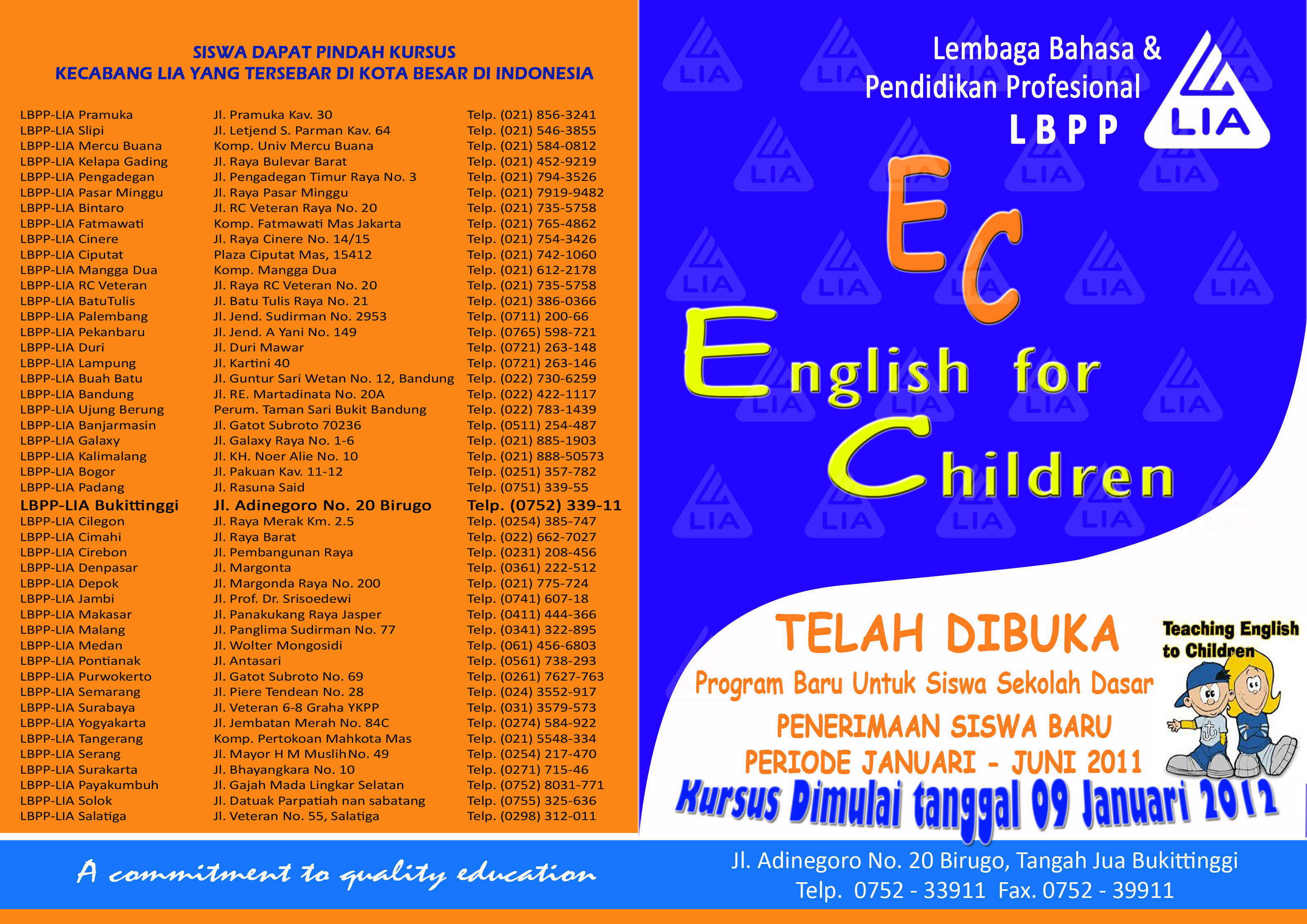Brosur Englih for Children